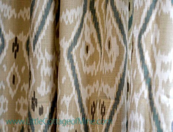 DiningRoomCurtainIkatFabric